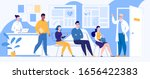 people patients are sitting in... | Shutterstock .eps vector #1656422383