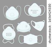 facs air pollution mask ... | Shutterstock .eps vector #1656424330