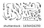 vector black hand drawn arrows... | Shutterstock .eps vector #1656426250