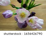 Bouquet With Pink  Purple And...