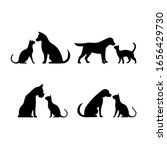 dog and cat silhouette vector... | Shutterstock .eps vector #1656429730