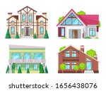 colorful country house with... | Shutterstock .eps vector #1656438076