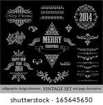 christmas set   labels  emblems ... | Shutterstock .eps vector #165645650