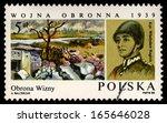 poland   circa 1985  a stamp...   Shutterstock . vector #165646028