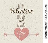 love design over pattern... | Shutterstock .eps vector #165646628
