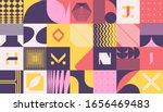 neo modernism artwork pattern... | Shutterstock .eps vector #1656469483