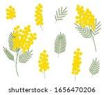 set of mimosa vector...   Shutterstock .eps vector #1656470206