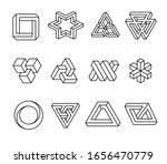 impossible shapes  optical... | Shutterstock .eps vector #1656470779