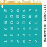 vector shopping icon set.... | Shutterstock .eps vector #165647153