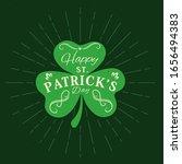 Patricks Day Holiday Shamrock...