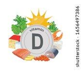 vitamin d. natural organic... | Shutterstock .eps vector #1656497386