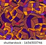 vector skull polygon seamless... | Shutterstock .eps vector #1656503746