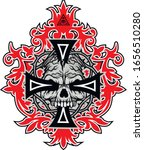 gothic sign with skull and... | Shutterstock .eps vector #1656510280