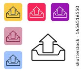 black line upload inbox icon...   Shutterstock .eps vector #1656516550