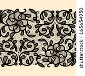 abstract lace ribbon seamless... | Shutterstock .eps vector #165654950