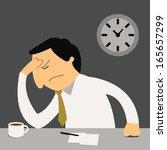 stressful businessman sitting... | Shutterstock .eps vector #165657299