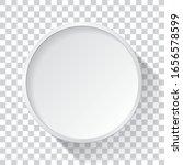 realistic empty round white... | Shutterstock .eps vector #1656578599