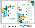 yellow  different blue triangle ...   Shutterstock .eps vector #1656579706