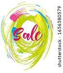 brush sale banner vector  can... | Shutterstock .eps vector #1656580579