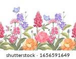 Vector Floral Seamless Border....