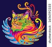 colorful decorative zentangle... | Shutterstock .eps vector #1656592333