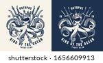 vintage nautical monochrome...   Shutterstock .eps vector #1656609913