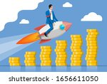 successful business man flying... | Shutterstock .eps vector #1656611050