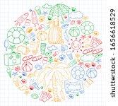 vector pattern. summer... | Shutterstock .eps vector #1656618529