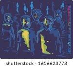 illustration of people going... | Shutterstock .eps vector #1656623773