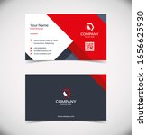 modern geometric business card... | Shutterstock .eps vector #1656625930