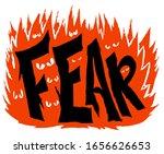 atmospheric inscription of the... | Shutterstock .eps vector #1656626653