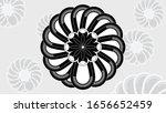 black and white pattern design   Shutterstock .eps vector #1656652459