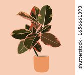 art collage plant tropical... | Shutterstock .eps vector #1656661393