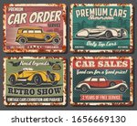 Retro Cars Vector Vintage Rusty ...
