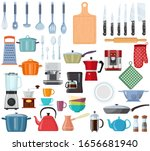 kitchen tools set icon....