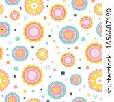 childish seamless vector... | Shutterstock .eps vector #1656687190
