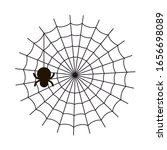 spider web and small spider on... | Shutterstock .eps vector #1656698089
