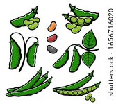 beans set. collection icon... | Shutterstock .eps vector #1656716020
