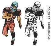 american football player....   Shutterstock .eps vector #1656732