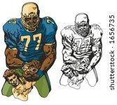american football player....   Shutterstock .eps vector #1656735