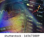 world economics graph and euro... | Shutterstock . vector #165673889