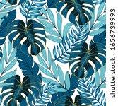 summer seamless tropical... | Shutterstock .eps vector #1656739993