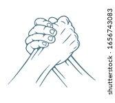 arm wrestling. arm wrestling...   Shutterstock .eps vector #1656743083