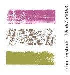 vector colorful brush stain... | Shutterstock .eps vector #1656754063