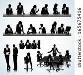 set of business people... | Shutterstock .eps vector #165675416