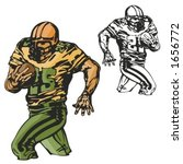 american football player....   Shutterstock .eps vector #1656772
