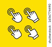 Hand Click Vector Icon. Set Of...