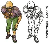 american football player....   Shutterstock .eps vector #1656775