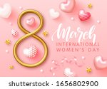 greeting card for march 8 with... | Shutterstock .eps vector #1656802900