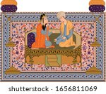 Mughal Miniature Painting Of...